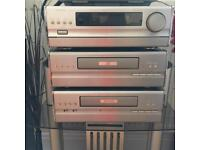 Denon d20 cassette CD player and radio tannoy speakers home