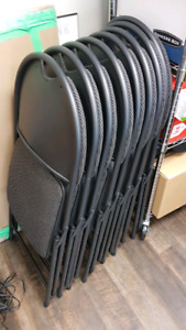 8 new folding chairs