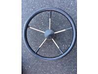 Stainless boat steering wheel
