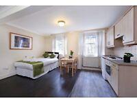 modern bedsit flat in Marylebone