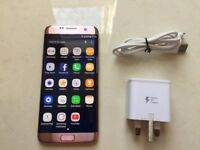 Samung Galaxy S7 Edge Rose Gold 32GB , Unlocked to all Networks