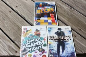 3  WII  GAMES ALL FOR ONLY $30.00 OR $10.00 EACH