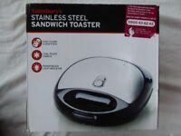Stainless Steel Sandwich Toaster - Sainsbury's