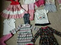 Girls clothes bundle age 1-3 years