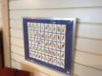 Framed set of cigarette cards,SOLD SOLD SOLD