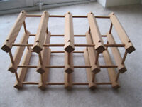 Wood wine rack - holds 12 bottles - Lawnswood LS16