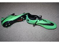 Green Slazenger hyper venom football boots - size 7 - very good condition
