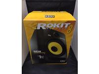 2 x KRK RP8 G3 Rokit G3 Powered 2-Way Active Studio Monitors / Speakers. / As New !