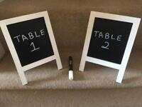 Small chalk easels