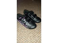 Size 12 black and pink kids trainers (New)
