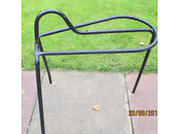 Saddle Stand Black Metal Free Standing 28inch High