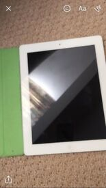 Ipad 4th generation with green flip case like new