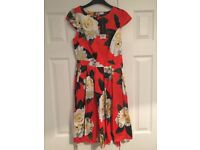 Dorothy Perkins orange floral dress and lime tunic