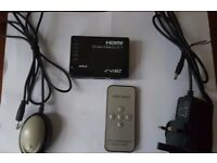 Neet®-5 Port HDMI AUTO SWITCH W/ REMOTE 5x1 (5 way input 1 output) - 1080p Full HD - v1.3b HDMI