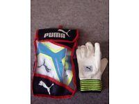 Puma evoPower 3 Wicket Keeping Gloves - Atomic Blue & Puma Full Chamois Wicket Keeping Inners