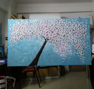 Beautiful Large Modern Art 3D Flowers Canvas Painting