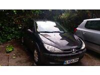 Peugeot 206, 2004, 1.4 L - Low Mileage - Needs work - MOT Fail