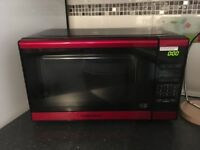 Red Morphy Richards microwave as new £30
