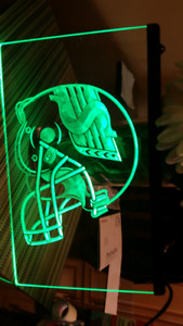 Saskatchewan roughrider neon sign