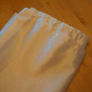 Four Cream/Off-White Curtain Panels For Sale