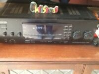 Kenwood hifi and surround receiver amplifier, with speakers GWO.