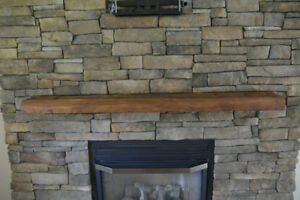 Barn Board Beam - Cut Fireplace Mantle