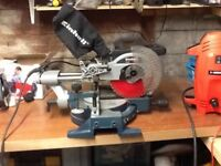 Einhell 1700w compound sliding mitre chop saw