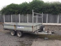 """Indespension General Duty Flatbed Trailer With Sides 10' x 5'6"""""""