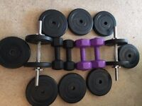 Dumbbell Weights 18 piece set 41 kgs very good clean condition
