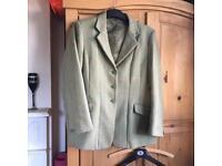 Green tweed showing jacket