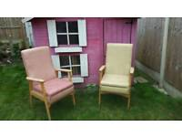 2 commode chairs 1 armchair £10 each
