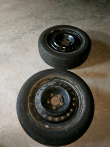 2 michelin hydroedge rims and tires