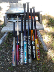 6 Aluminum bats from 26 to 34 inches