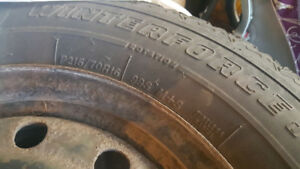 Used Winter Tires - P215 70R16