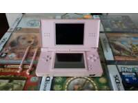Pink Nintendo Ds Lite with 12 games.
