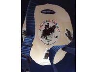 Horse riding hat - champion minor blue velvet