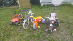 Lot of Child Bicycles