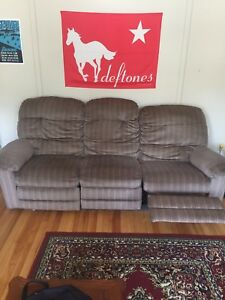Couch - 2 seats recline - must be moved by buyer