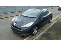 Peugeot 207 sport cc, 2012 year with low mileage of 71k, petrol