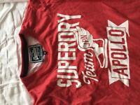 Red super dry t shirt size medium