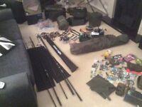 Carp set up Harrison Torrix Delkim Trakker Fox Aqua Shimano ultegra
