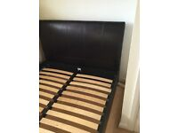 Faux leather double bed for sale good condition to be picked up