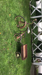 Antique Sunshine Tricycle with Wagon