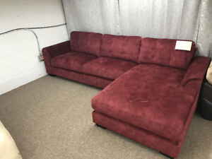 BRAND NEW SECTIONAL SOFA WITH RED COLOR Up to 70% OFF, NO TAX !