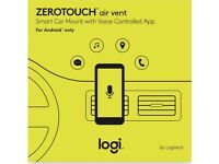 Logitech Zerotouch Air Vent smart car mount with voice controlled app