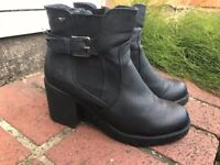 Tom Taylor faux leather ankle boots