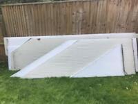 Plastic conservatory roof panels 25 m sq