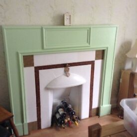 Painted wooden fire surround