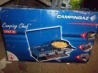 Campingaz camping chef, two burner camping stove