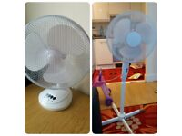 Desk and Standing fan 3 Speed oscillating